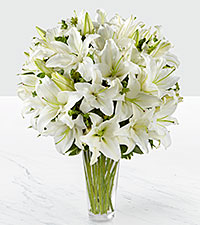 The FTD® Spirited Grace™ Lily Bouquet - VASE INCLUDED