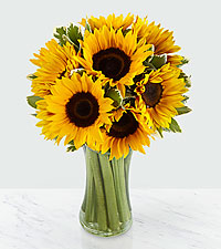 Endless Summer Sunflower Bouquet - 9 Stems - VASE INCLUDED