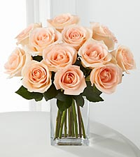 Sweet Wishes Rose Bouquet - 12 Stems of 16-inch Roses - VASE INCLUDED