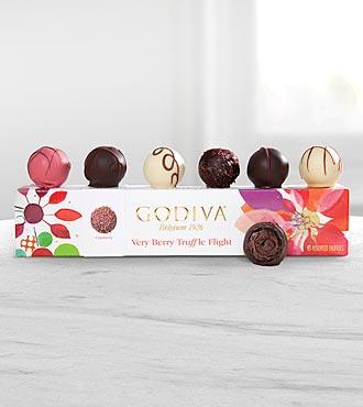 Godiva® Very Berry Truffle Flight - 6-piece