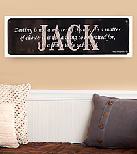 Personalized Achieve Your Destiny Motivational Sign