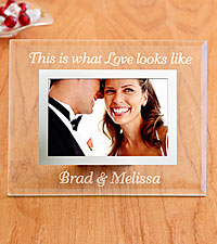 Personalized This is what Love Looks Like Glass Frame