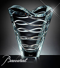 Baccarat® Crystal Clear Wave Vase