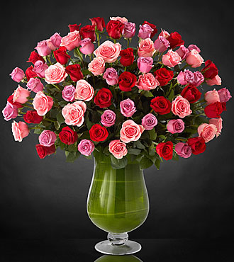 Heartfelt Luxury Rose Bouquet - 24-inch Premium Long-Stemmed Roses - VASE INCLUDED