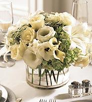 The FTD® White Linen™ Centerpiece